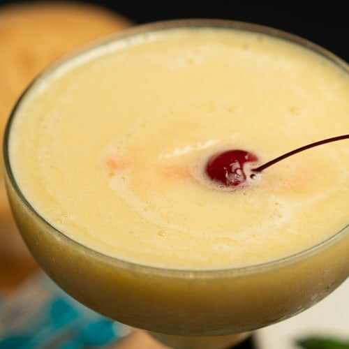 Yellow Margarita with a cherry on top